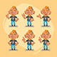 Tattooist Character in Various Positions Part 1 - GraphicRiver Item for Sale