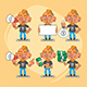 Tattooist Character in Various Positions Part 3 - GraphicRiver Item for Sale