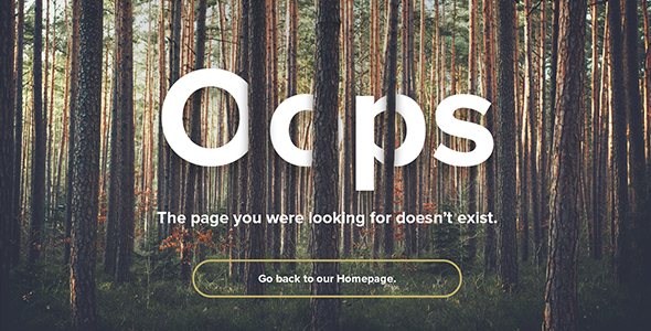 Natural Forest - Responsive 404 Error Template