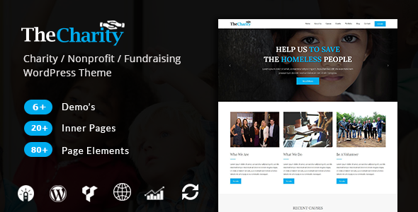 The Charity - Nonprofit & Fundraising WordPress Theme