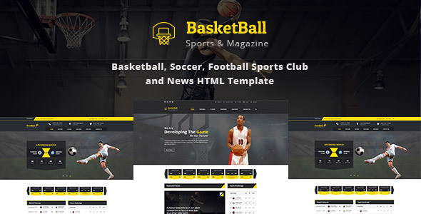 SportsMagazine Basketball, Soccer, Football Club and News HTML Template
