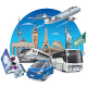 Transports and Travel - GraphicRiver Item for Sale