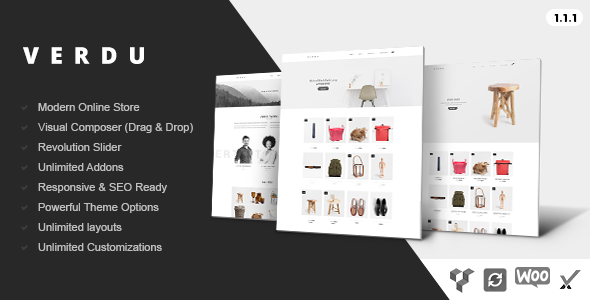 Verdu - Creative Multiuse eCommerce Theme - Minimalist WooCommerce