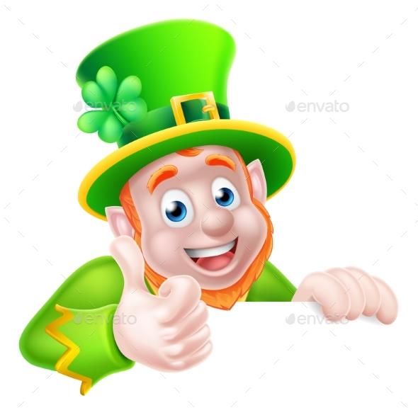 St Patricks Day Leprechaun Illustration