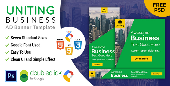 Uniting | Business HTML 5 Animated Google Banner Download