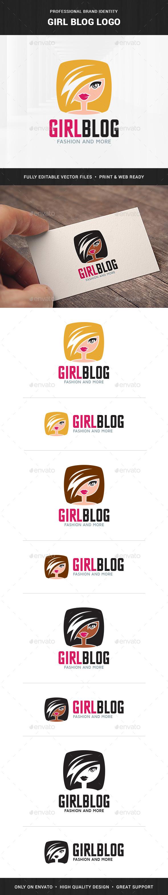 Girl Blog Logo Template
