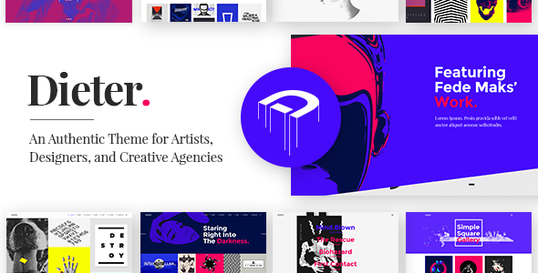 Dieter - Authentic Artist & Creative Design Agency Theme