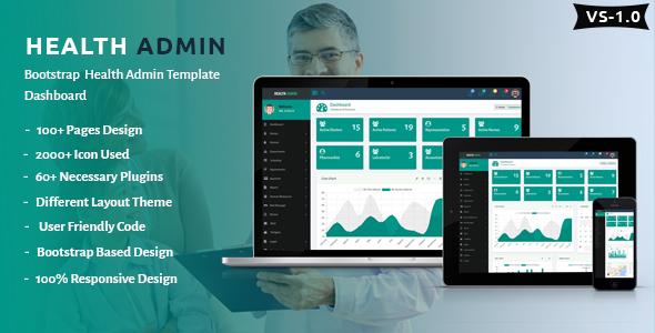 Health Admin - Bootstrap Health Admin Template Dashboard