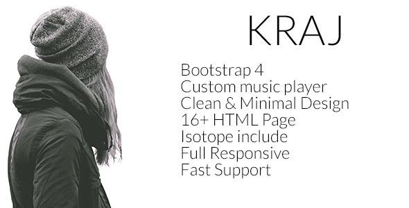 Kraj – Music Band HTML Template