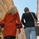 Back View of Two Ladies Touristss Walking and Talking in City - VideoHive Item for Sale