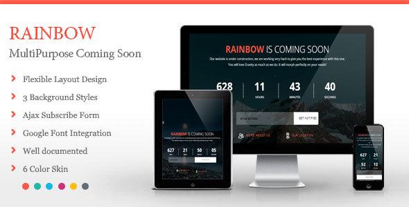 Rainbow - Coming Soon Template