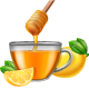 Glass Cup of Tea with Honey and Lemon - GraphicRiver Item for Sale