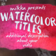 WaterColor Titles - VideoHive Item for Sale