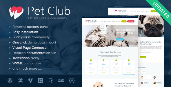 PetsClub - Pet Shop & Breeding Veterinary WordPress Theme