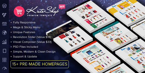 KuteShop - Fashion, Electronics & Marketplace WooCommerce Theme (RTL Supported)