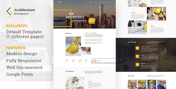 Architecture Development - Modern Constuction WordPress Theme
