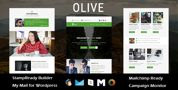 OLIVE - Multipurpose Responsive Email Template with Stampready Builder Access