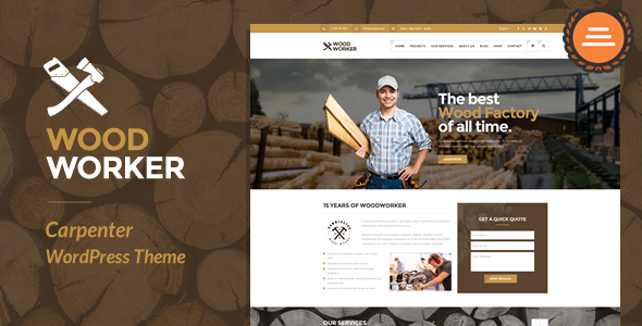 WoodWorker - Carpenter Handy Service WordPress Theme