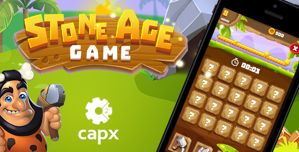 Stone Age HTML5 Game [ 20 levels ] + Capx Download