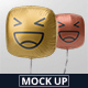 Square Balloon Mockup - GraphicRiver Item for Sale
