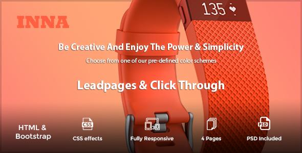 INNA - Marketing HTML Landing Page