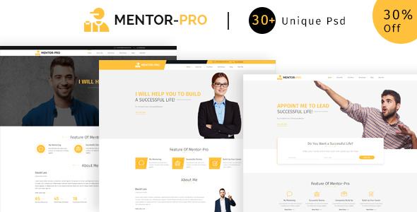 Mentor-pro   Ultimate  PSD Template