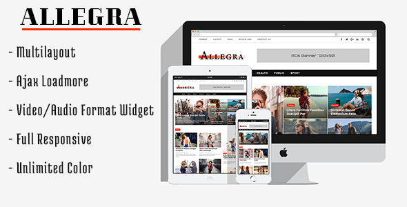 Allegra - A Multilayout Blog & Magazine Theme