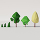 Low poly trees - 3DOcean Item for Sale
