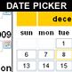 calendar - date picker - date field