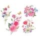 Watercolor Set of Vintage Bouquet of Garden - GraphicRiver Item for Sale