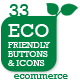 Eco Store Sustainable Ecommerce Buttons and Icons - GraphicRiver Item for Sale