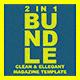 2 in 1 Multipurpose Magazine Template Bundle - GraphicRiver Item for Sale