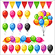 Set of Bright Glossy Colored Balloons - GraphicRiver Item for Sale