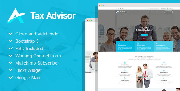 Tax Advisor - Financial Consulting WordPress Theme