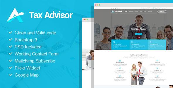 Tax Advisor - Financial Consulting/Attorney WordPress Theme