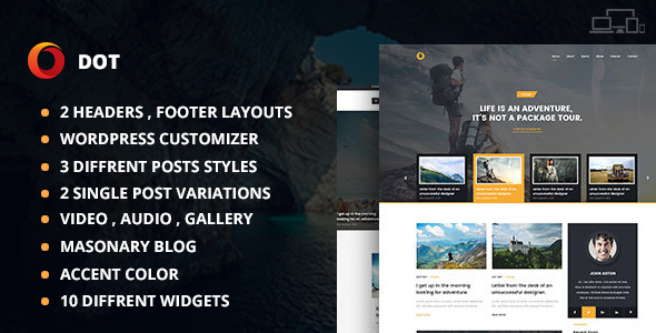 Dot Blog Pro - Creative WordPress Theme For Bloggers