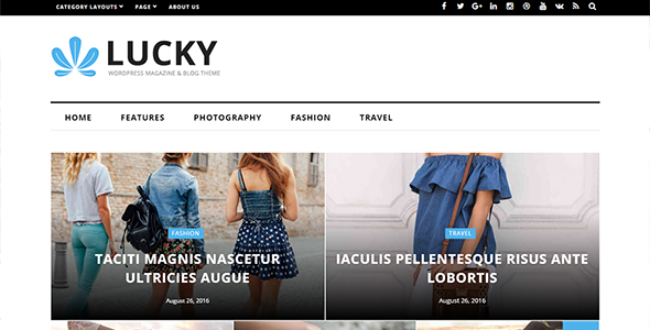 Lucky - WordPress Magazine and Blog Theme