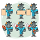 Rhino Football Player Character in Various Positions Part 2 - GraphicRiver Item for Sale