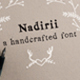 Nadirii Font Handcrafted - GraphicRiver Item for Sale