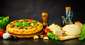 Pizza Margherita and Dough with Ingredients - PhotoDune Item for Sale