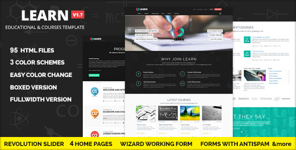 Learn -  Courses and Educational Site Template