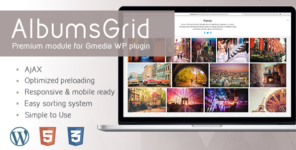 AlbumsGrid 4.2 | Gallery Module for Gmedia plugin