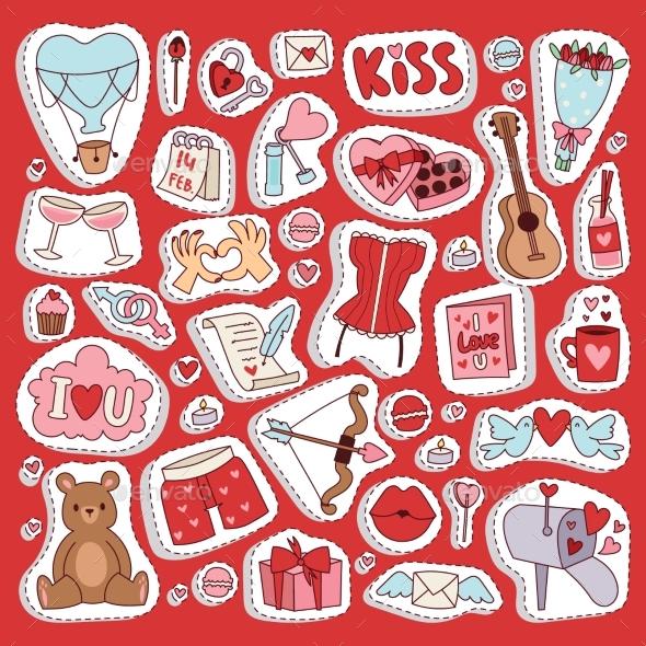 Valentine Day Icons Symbols