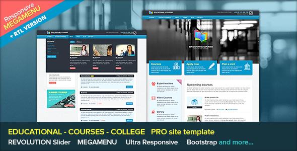 EDU - Educational, Courses, College with Megamenu