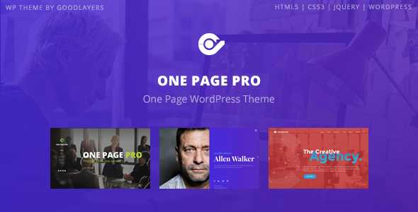 One Page Pro - Multipurpose WordPress