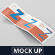 Square Z-Fold Brochure Mockup - GraphicRiver Item for Sale