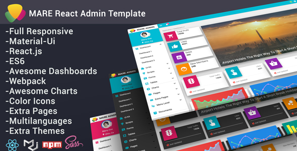 Mare - Material & React Admin Template