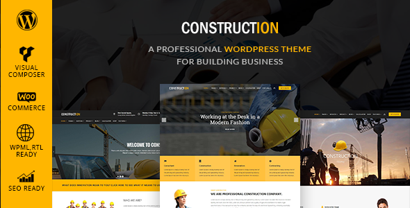 Construction - Building & Renovation WordPress Theme