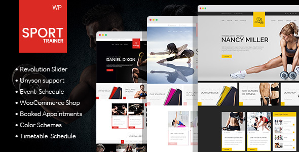 Sport Trainer - Boxing, Yoga and Crossfit WordPress Theme