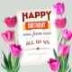 Happy Birthday Vintage Text Poster Composition - GraphicRiver Item for Sale